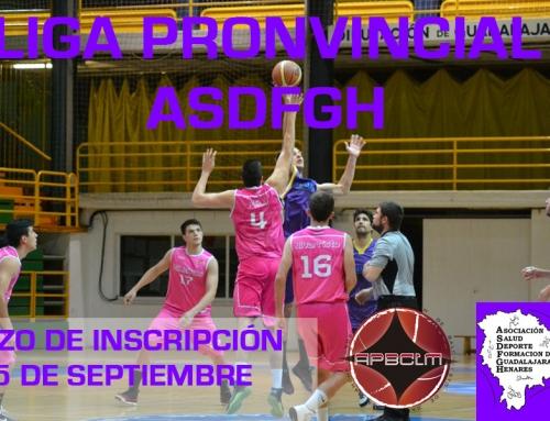 Plazos y Documentación IV Liga Baloncesto Masculino ASDFGH