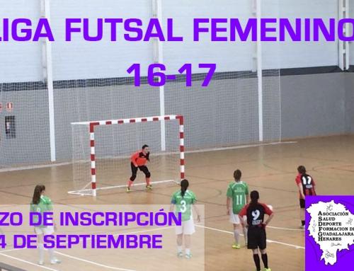 Plazos y Documentación Liga Fútbol Sala Femenina 16-17